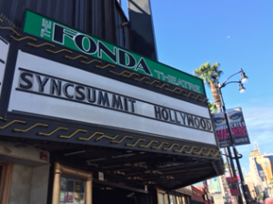 The Fonda Theater SyncSummit Hollywood sign